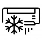 Air conditioning snowflake icon. Outline air conditioning snowflake vector icon for web design isolated on white background